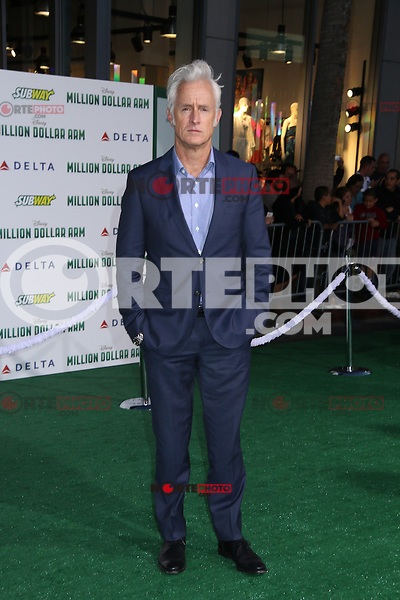 HOLLYWOOD, CA - MAY 6:  John Slattery at the Premiere Of Disney's 'Million Dollar Arm'  on May 6, 2014 at El Capitan Theatre in Hollywood, California. Credit: SP1/Starlitepics /nortephoto.com