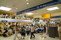 Modern airport duty free shops, Gatwick Airport, London, England