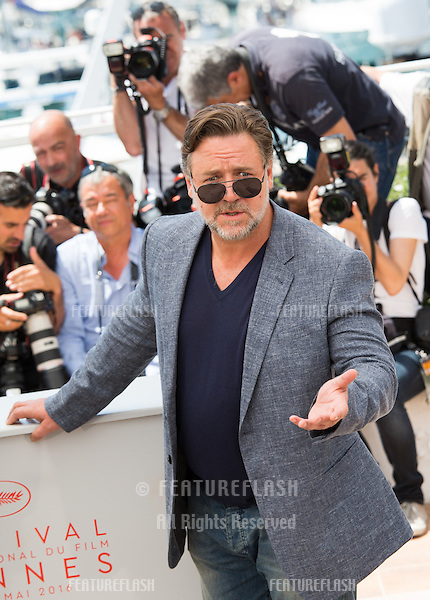 Russell Crowe   attends 'The Nice Guys' photocall  at the 69th Festival de Cannes.<br /> May 15, 2016  Cannes, France<br /> Picture: Kristina Afanasyeva / Featureflash