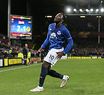 Romelu Lukaku of Everton celebrates his second goal of the night - UEFA Europa League Round of 32 Second Leg - Everton vs Young Boys - Goodison Park Stadium - Liverpool - England - 26th February 2015 - Picture Simon Bellis/Sportimage