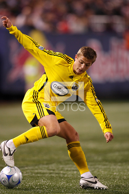 Columbus Crew midfielder Robbie Rogers (19). The New York Red Bulls defeated the Columbus Crew 2-0 during a Major League Soccer match at Giants Stadium in East Rutherford, NJ, on April 5, 2008.