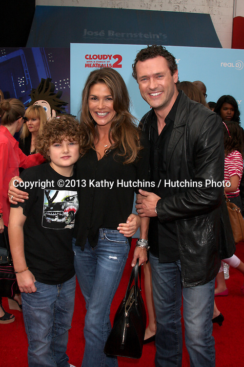 """LOS ANGELES - SEP 21:  David O'Mara, Paige Turco, Jason O'Mara at the """"Cloudy With A Chance of Meatballs 2"""" Los Angeles Premiere at Village Theater on September 21, 2013 in Westwood, CA"""