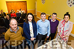 Pictured are committee members l-r: Tony Hussey,  Joanne Leen, Cathal O'Regan, Brendan Moriarty and Kelly Hartnett at the Ballyheigue Community 'Review of Services' Meeting at Ballyheigue Community Centre on Monday.