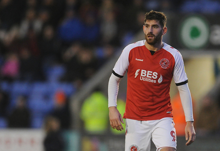 Fleetwood Town's Ched Evans<br /> <br /> Photographer Kevin Barnes/CameraSport<br /> <br /> The EFL Sky Bet League One - Shrewsbury Town v Fleetwood Town - Tuesday 1st January 2019 - New Meadow - Shrewsbury<br /> <br /> World Copyright © 2019 CameraSport. All rights reserved. 43 Linden Ave. Countesthorpe. Leicester. England. LE8 5PG - Tel: +44 (0) 116 277 4147 - admin@camerasport.com - www.camerasport.com