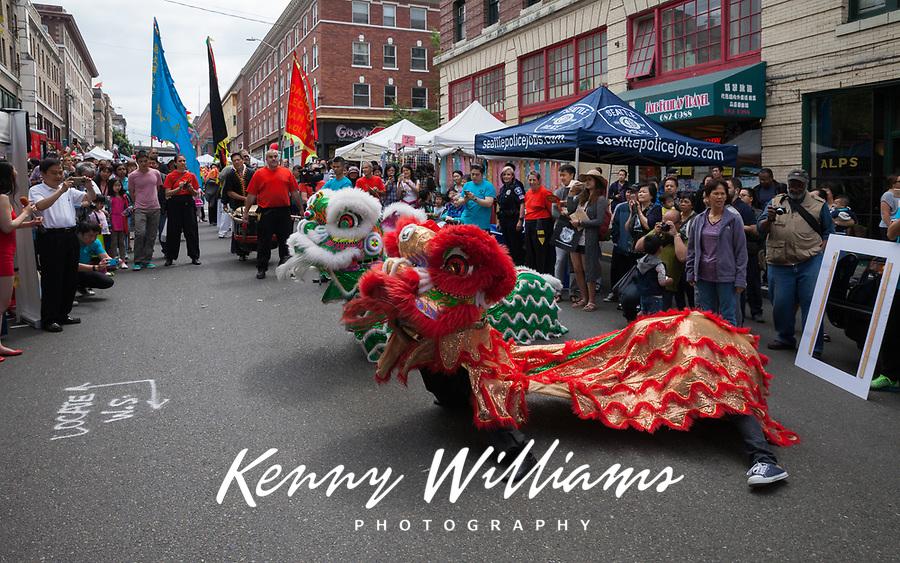 Dragon Fest, Chinatown, Seattle, Washington State, USA.