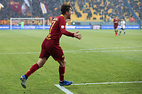 Cengiz Under of AS Roma celebrates after scoring second goal for his side during the Serie A 2018/2019 football match between Parma and AS Roma at stadio Ennio Tardini, Parma, December, 29, 2018 <br /> Foto Gino Mancini / Insidefoto