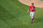 7 September 2014: Washington Nationals pitcher Drew Storen closes out the game against the Philadelphia Phillies at Nationals Park in Washington, DC. The Nationals defeated the Phillies 3-2 to salvage the final game of their 3-game series. Mandatory Credit: Ed Wolfstein Photo *** RAW (NEF) Image File Available ***