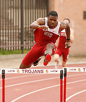Jeshua Anderson of Washington State Univ. won the 400m hurdles with a time of 49.52sec.  at the USC Trojan Invitational held at Loker Stadium/Cromwell Field on Saturday, March 21, 2009. Photo by Errol Anderson, The Sporting Image.net
