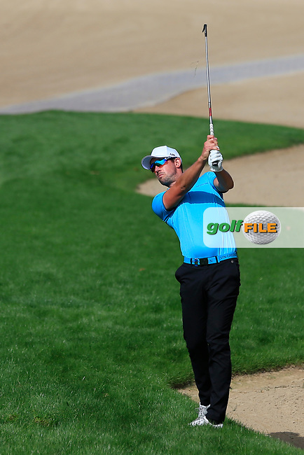 Alexander Bjork (SWE) on the 3rd during Round 3 of the Omega Dubai Desert Classic, Emirates Golf Club, Dubai,  United Arab Emirates. 26/01/2019<br /> Picture: Golffile | Thos Caffrey<br /> <br /> <br /> All photo usage must carry mandatory copyright credit (&copy; Golffile | Thos Caffrey)