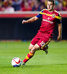 Real Salt Lake midfielder Luis Gil (10) controls the ball against Philadelphia Union in the second half Saturday, March 14, 2015, during the Major League Soccer game at Rio Tiinto Stadium in Sandy, Utah. (© 2015 Douglas C. Pizac)