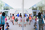The Roman Catholic Church bought the Crystal Cathedral out of bankruptcy in 2011 and is currently transforming the iconic campus into a cathedral. Construction on Christ Cathedral will be complete in 2016. Tours are given twice daily Monday through Saturday, including this tour group peering into the small gallery on the campus in Garden Grove, California August 5, 2014. <br /> CREDIT: Kendrick Brinson for The Wall Street Journal<br /> OCTV