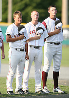 July 28th 2007:  Chris Hicks during the Cape Cod League All-Star Game at Spillane Field in Wareham, MA.  Photo by Mike Janes/Four Seam Images