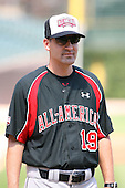August 17 2008:  Steve Bernhardt of the Baseball Factory team during introductions before the 2008 Under Armour All-American Game at Wrigley Field in Chicago, Illinois.  (Copyright Mike Janes Photography)