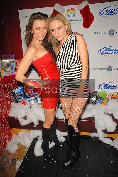 Alicia Arden and Paula LaBaredas<br /> at Bridgetta Tomarchio B-Day Bash and Babes in Toyland Toy Drive, Lucky Strike, Hollywood, CA. 12-04-09<br /> David Edwards/Dailyceleb.com 818-249-4998