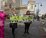 "Giga Hickey and Pat Macdonell hold a ""#Me Too"" quilt during the 3rd Annual Reno Women's March in downtown Reno on Saturday, January 19, 2019."
