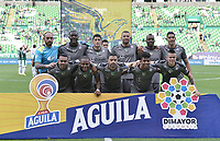 PALMIRA - COLOMBIA, 03-08-2019: Jugadores del Equidad posan para una foto previo al e partido entre Deportivo Cali y La Equidad por la fecha 4 de la Liga Águila II 2019 jugado en el estadio Deportivo Cali de la ciudad de Palmira. / Players of Equidad pose to a photo prior the match for the date 4 as part Aguila League II 2019 between Deportivo Cali and La Equidad played at Deportivo Cali stadium in Palmira city. Photo: VizzorImage / Gabriel Aponte / Staff