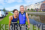 Jane Kearney and Ger Power taking part in the Tralee Tri Grand Prix Triathlon on Saturday morning.