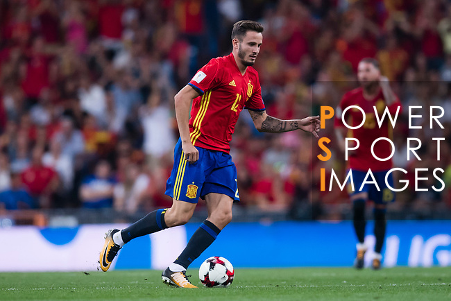 Saul of Spain in action during their 2018 FIFA World Cup Russia Final Qualification Round 1 Group G match between Spain and Italy on 02 September 2017, at Santiago Bernabeu Stadium, in Madrid, Spain. Photo by Diego Gonzalez / Power Sport Images