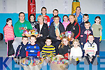 Children from Sliabh Luachra Boxing club who presented St Vincent de Paul food hampers on Monday evening front row l-r: Sean McCarthy, Cody McMahon, Jerimiah Flynn, Nicole Broderick, Erin Mochan, Jack Breen. Middle row: Sharon Fitzmaurice, Mike O'Leary, Angela Kelliher, Margaret McCarthy, Jennifer Coffey, Cieran McCarthy, Mairead Mochan. Back row: Ciara Cahill, Brian O'Leary, Conor Lane, Derarca O'Connor, Abina McSweeney and Luke Fleming