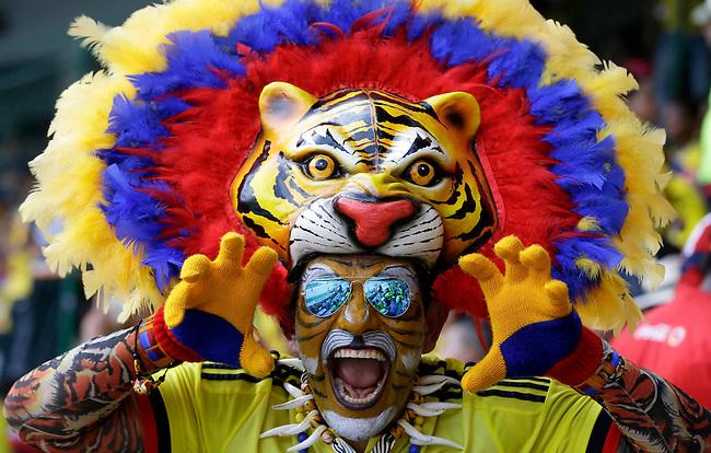 Fans de Colombia antes del partido contra Peru en el Estadio Metropolitano Roberto Melendez de Barranquilla el  8 de octubre de 2015.<br /> <br /> Foto: Archivolatino<br /> <br /> COPYRIGHT: Archivolatino<br /> Prohibido su uso sin autorización.