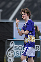 Brenock O'Connor (Game of Thrones) during the SOCCER SIX Celebrity Football Event at the Queen Elizabeth Olympic Park, London, England on 26 March 2016. Photo by Andy Rowland.