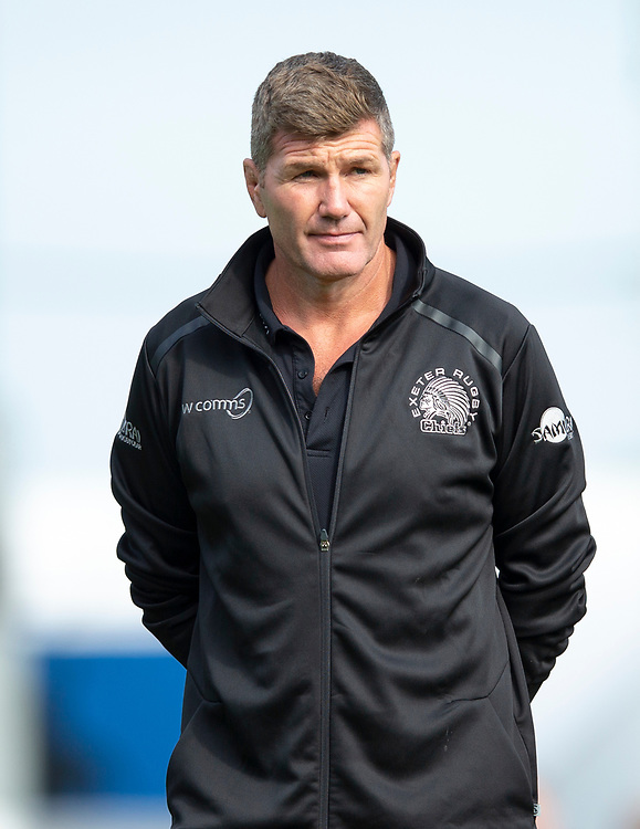 Exeter Chiefs' Head Coach Rob Baxter<br /> <br /> Photographer Bob Bradford/CameraSport<br /> <br /> Gallagher Premiership - Exeter Chiefs v Leicester Tigers - Saturday September 1st 2018 - Sandy Park - Exeter <br /> <br /> World Copyright © 2018 CameraSport. All rights reserved. 43 Linden Ave. Countesthorpe. Leicester. England. LE8 5PG - Tel: +44 (0) 116 277 4147 - admin@camerasport.com - www.camerasport.com