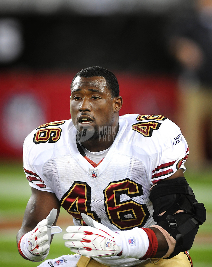 Nov. 10, 2008; Glendale, AZ, USA; San Francisco 49ers tight end (46) Delanie Walker against the Arizona Cardinals at University of Phoenix Stadium. The Cardinals defeated the 49ers 29-24. Mandatory Credit: Mark J. Rebilas-