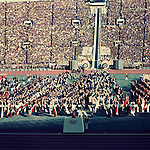 ??????/Takashi Ono (JPN),<br /> OCTOBER 10, 1964 - Opening Ceremony : Takashi Ono takes the Olympic Oath during the Opening Ceremony of 1964 Tokyo Olympic Games at National Stadium in Tokyo, Japan.<br /> (Photo by Shinichi Yamada/AFLO) [0348]