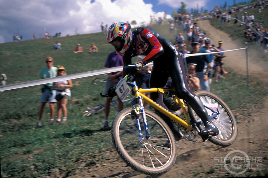 John Tomac.Downhill .World Championships , Vail , Colorado USA 1994.pic © Steve Behr/Stockfile