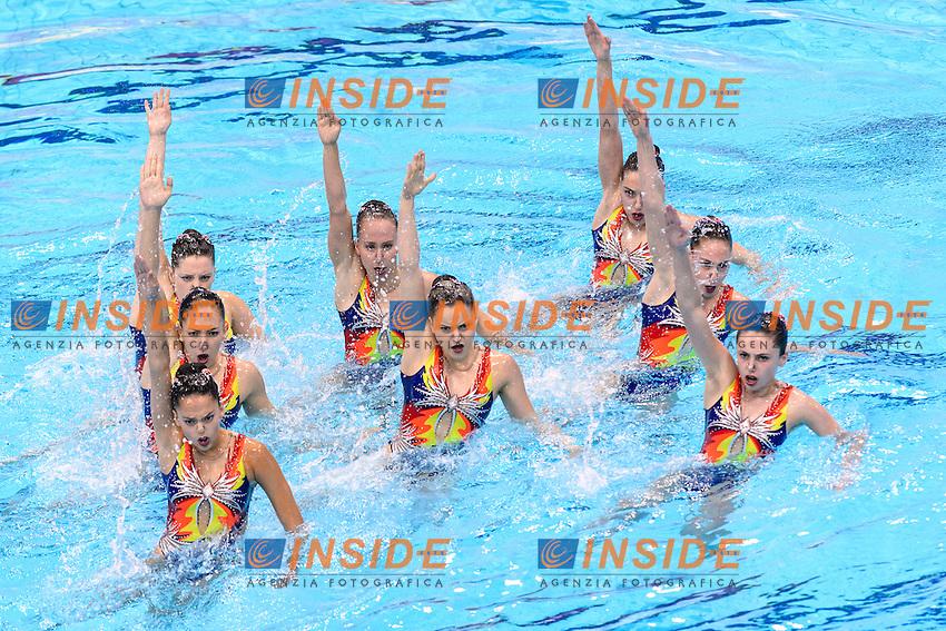 ISRAEL ISR <br /> BLECHER Eden BUBLIL Aviv Lea LITMAN Gal POLKA Yael CHALEMSKY Alina VALDMAN Noa CUTIC Natali Genya ERENBURG Eliz<br /> Team Free Preliminary  <br /> London, Queen Elizabeth II Olympic Park Pool <br /> LEN 2016 European Aquatics Elite Championships <br /> Synchronized Swimming <br /> Day 03 10-05-2016<br /> Photo Andrea Staccioli/Deepbluemedia/Insidefoto