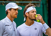 London, England, 6 July, 2019, Tennis,  Wimbledon, Men's doubles: Marcus Daniell (DEN)) and Wesley Koolhof (NED) (R)<br /> Photo: Henk Koster/tennisimages.com