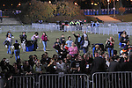 Crowds rush to grab a good standing spot for Barack Obama's election night rally in Grant Park in Chicago, Illinois on November 4, 2008.