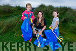 Siobhan and Erin McCarthy with Emily O'Halloran from Banna taking part in the Banna Beach Clean up of rubbish on Saturday.