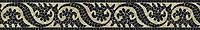 "6"" Suzani border, a hand-cut jewel glass mosaic, shown in Obsidian and Quartz."