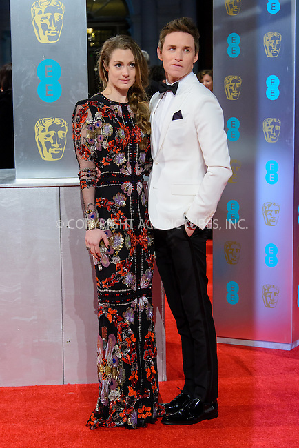 www.acepixs.com<br /> <br /> February 12 2017, London<br /> <br /> Eddie Redmayne and Hannah Bagshawe arriving at the 70th EE British Academy Film Awards (BAFTA) at the Royal Albert Hall on February 12, 2017 in London, England<br /> <br /> By Line: Famous/ACE Pictures<br /> <br /> <br /> ACE Pictures Inc<br /> Tel: 6467670430<br /> Email: info@acepixs.com<br /> www.acepixs.com