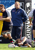2005_06 National Division One, NEC Harlequins vs Newbury: Quins Director of Rugby, Dean Richards, watches the pre game warm up.Twickenham Stoop: 17.09.2005,   © Peter Spurrier/Intersport Images - email images@intersport-images....