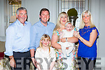 Ellen Belle Broderick Gortmatona, Kilcummin, celebrated her christening with her parents Stephen and Catriona, and big sister Vida, god parents sue Corcoran and Donie Broderick representing Joey Broderick in the International Hotel Killarney on Saturday afternoon