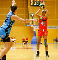 29th December 2019; Bendat Basketball Centre, Perth, Western Australia, Australia; Womens National Basketball League Australia, Perth Lynx versus Canberra Capitals; Imani McGee-Stafford of the Perth Lynx shoots from the top of the key - Editorial Use