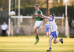 XXjob 22/04/2015 SPORT<br /> Limericks Ed Sheehy &amp; Waterford's Carthach Barry in action during their munster Minor Football Semi-Final 1st Playoff in Newcastle West County Limerick.<br /> Picture  Credit Brian Gavin Press 22