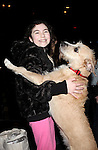Lilla Crawford & Sunny attending the Broadway Opening Night Performance  Gypsy Robe Ceremony celebrating Merwin Foard recipient  for 'Annie' at the Palace Theatre in New York City on 11/08/2012