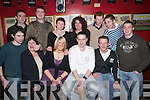 Saying Farewell: The three members of staff that are leaving Kerry Co-Op Catherine, Kenneth and Barry with friends at Christys The Well in Listowel on Friday night were (Front row) John Paul Riordan, Mairead Lawlee, Catherine OSullivan, Kenneth Hanrahan and Barry Leahy. (Back row): Timmy Kennelly, William Carroll, Mary Carmody, Carrie Williams, Tom Enright, Michael Ahern and Kevin Fetherland..