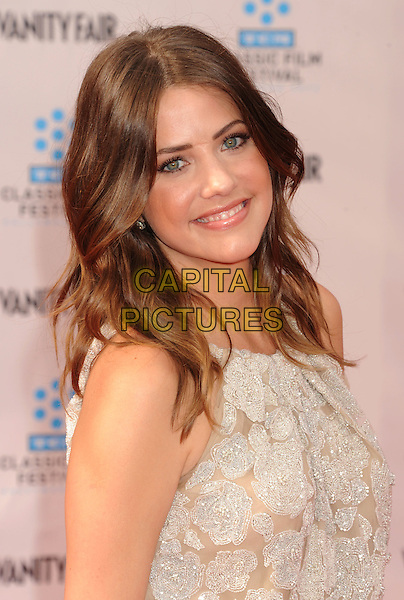 """Julie Gonzalo .The World Premiere of the 40th Anniversary Restoration of """"Cabaret"""" at Grauman's Chinese Theatre in Hollywood, California, USA..April 12th, 2012.headshot portrait white lace .CAP/ROT/TM.©Tony Michaels/Roth Stock/Capital Pictures"""