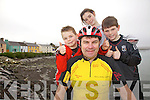 Noel Curran has the backing of his family as he takes on Munster this Friday, Noel will cycle through the six counties of Munster over the weekend as a fundraiser for the Paul Curran Trust, pictured here with Noel are back l-r; Jake, Chloe & Sonny Curran.