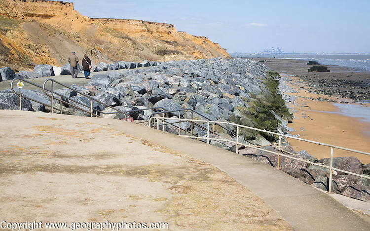 Crag Walk coastal defence and viewpoint structure,  Walton on the Naze, Essex, England