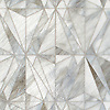 Origami, a waterjet  jewel glass mosaic, shown in Alabaster.