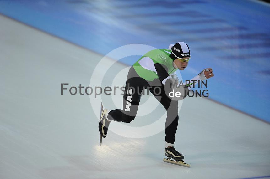 SCHAATSEN: GRONINGEN: Sportcentrum Kardinge, 02-02-2013, Seizoen 2012-2013, Gruno Bokaal, Douwe de Vries, ©foto Martin de Jong