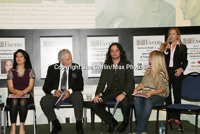 "CBS News Anchor Alexis Christoforous, Days John Aniston, Bold and the Beautiful Constantine Maroulis, GL Marcy Rylan and Nick Katsoris at the booksigning of Loukoumi's ""Good Deeds"" on April 4, 2009 at Lincoln Square, Barnes & Noble, New York City, NY.  $2 of each book sale will be donated to St. Jude Children's Research Hospital which is in itself, a good deed. (Photo by Sue Coflin/Max Photos)"