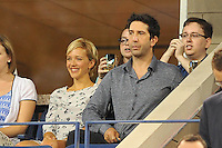 David Schwimmer con la fidanzata<br /> New York Flushing Meadows 03-09-2013 Tennis Torneo US Open Grande Slam.<br /> Photo Antoine Couvercelle / Panoramic / Insidefoto<br /> ITALY ONLY