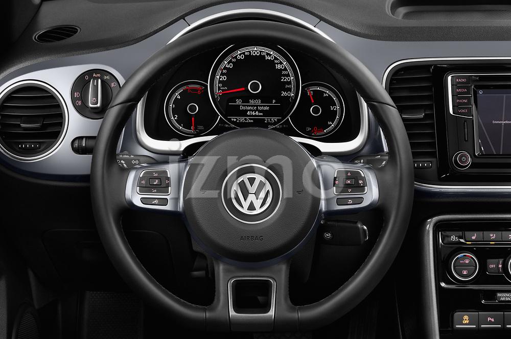 Car pictures of steering wheel view of a 2017 Volkswagen Beetle Design 2 Door Convertible Steering Wheel