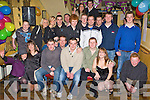 Paul Ladden Milltown seated centre celebrates his 21st with his friends and family in O'Sheas bar Milltown Saturday night